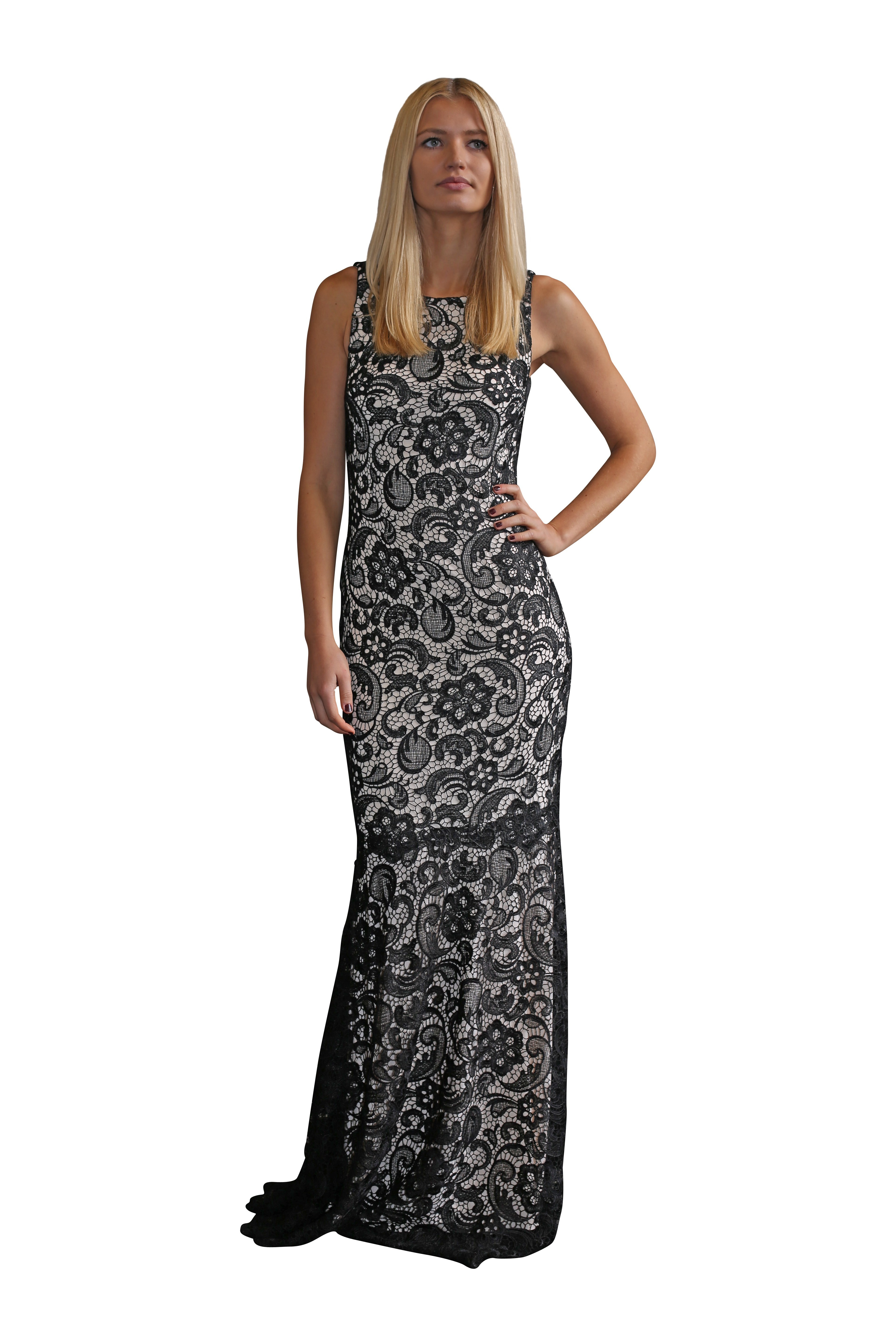 Langhem Alessander Lace Black And White Dress Size 6 The