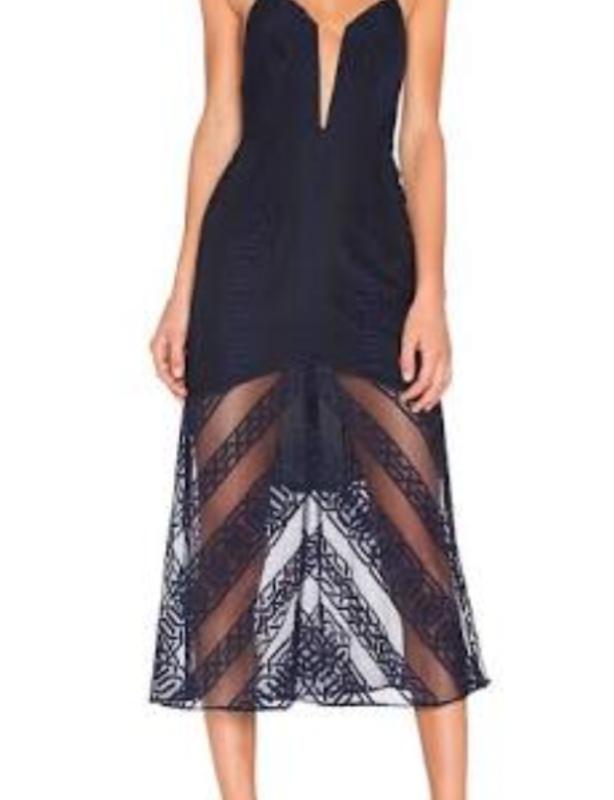 Shona Joy Ambrosia Fluted Cocktail Dress