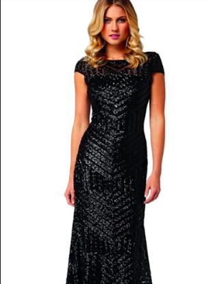 Langhem Black Ida Sequin Black Gown Size 14 | The Volte