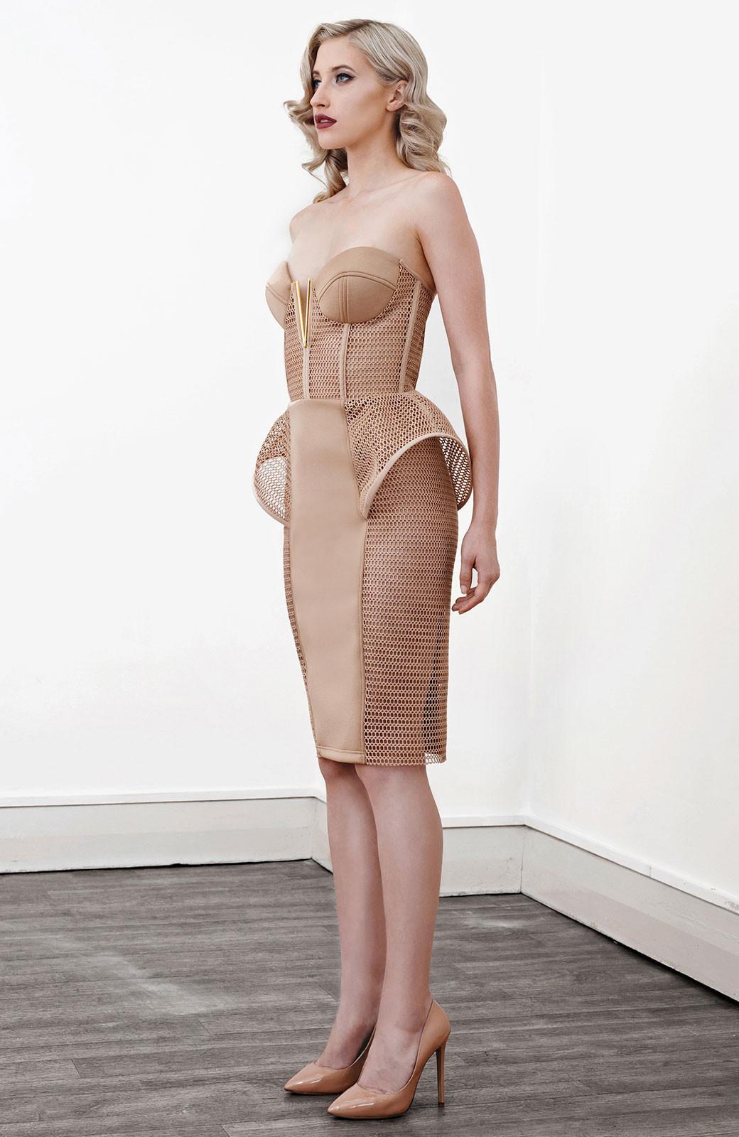 Lexi Onyx Peplum Cocktail Dress | The Volte