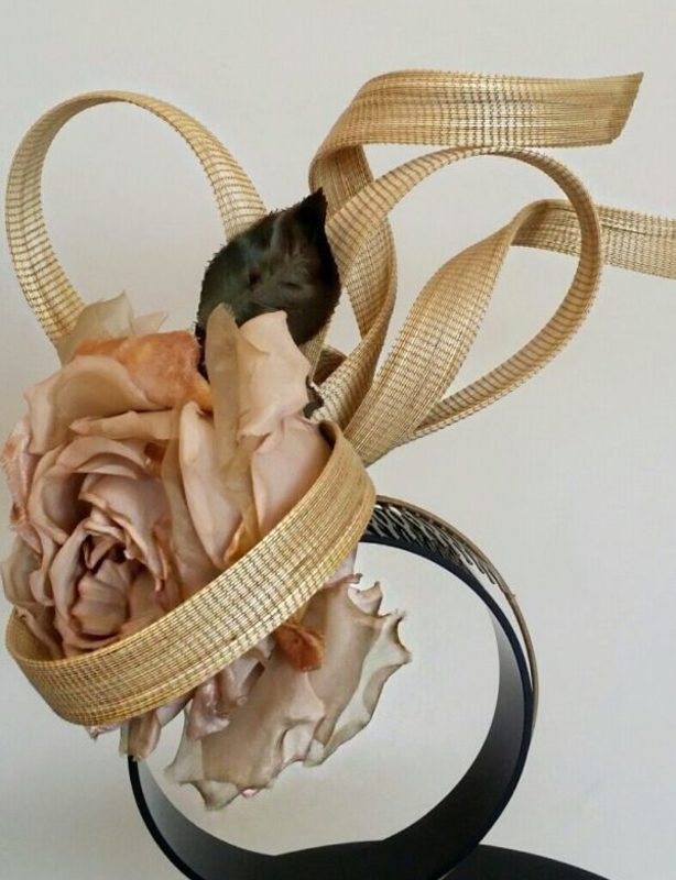 Philip Treacy - Flower Bunting Fascinator – Blush Pink