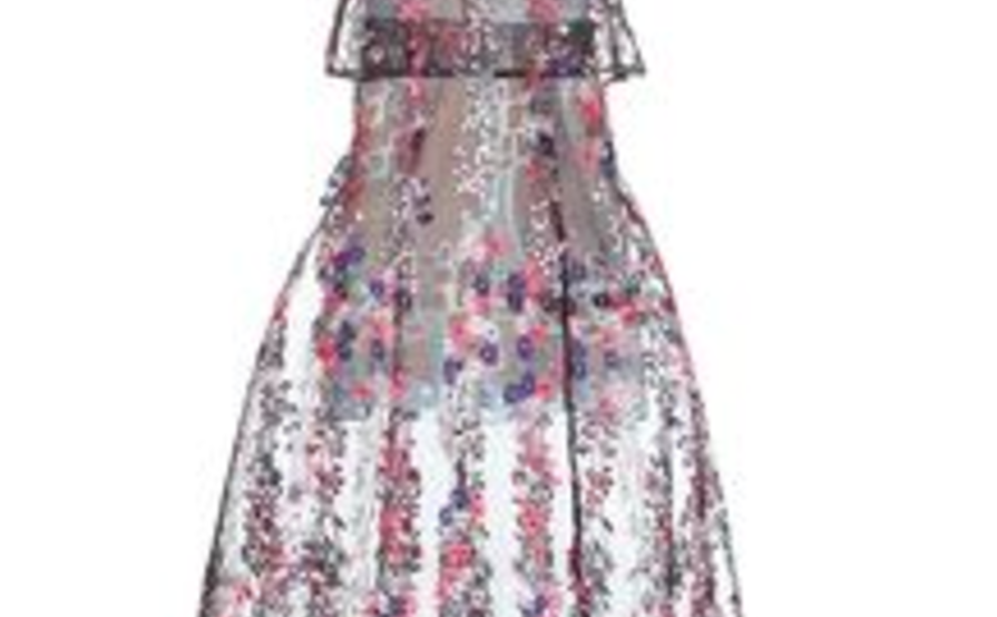 86a97e1936440 Self Portrait Floral Vine Embroidery Multi Coloured Midi Dress size ...