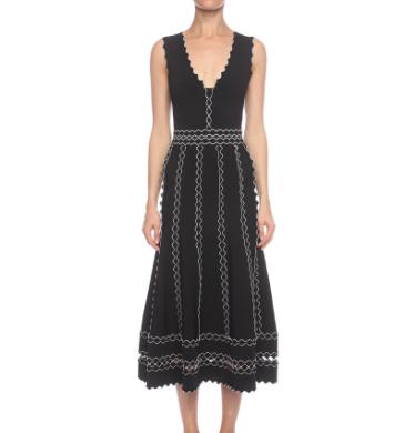 8c40aedc488 Long Flute Sleeveless Dress - Alexander McQueen