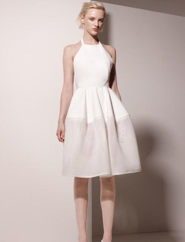 Mesh Scuba Halter Dress