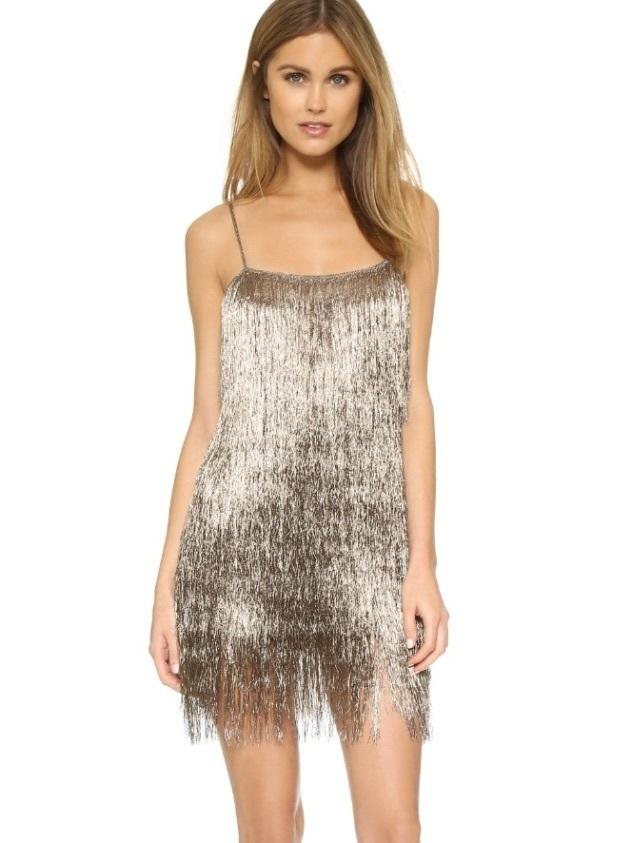 Rachel Zoe Finge Metallic Mini Dress   The Volte