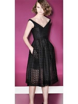 Nicholas Black Embroidered Circle Lace Ball Dress Size 6 The Volte