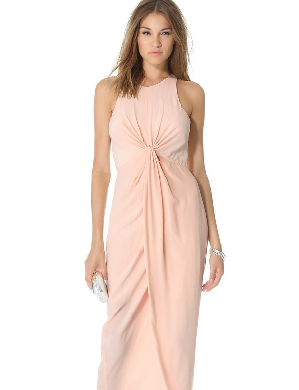 Zimmerman Blush Sleevless Knot Front Gown