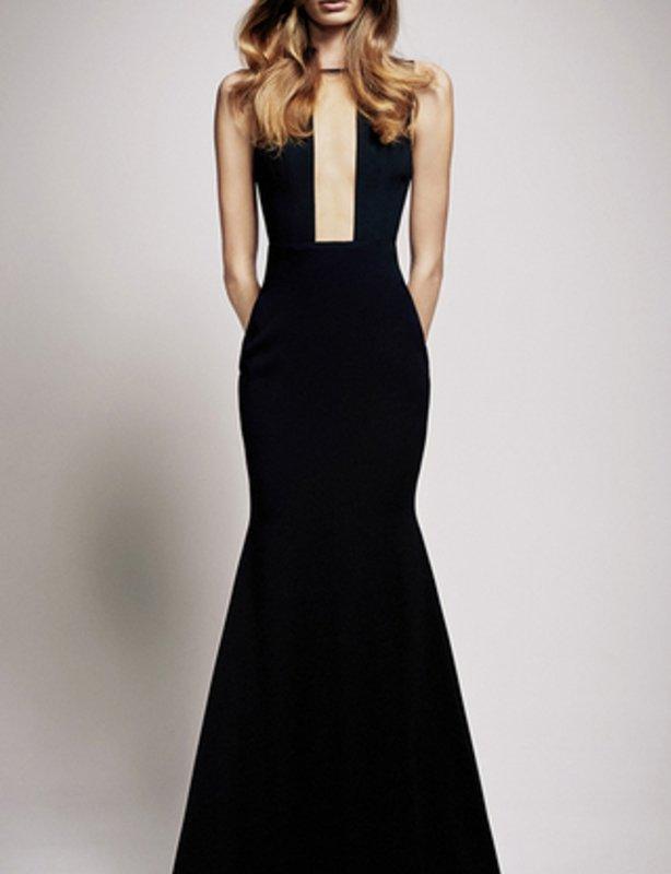 Alex Perry Black The Alex Crepe Gown