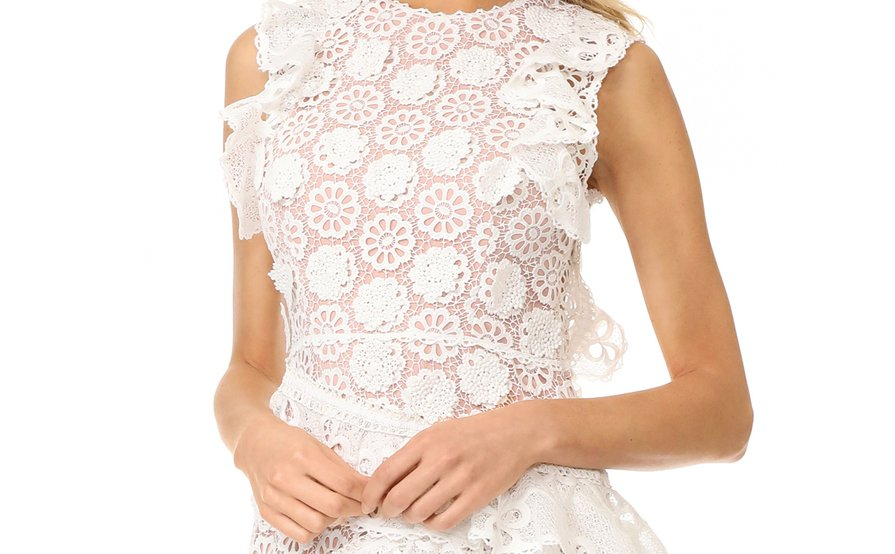 fc7df2b07dce5 Alexis Arleigh White Lace Frill Dress size 6 ...