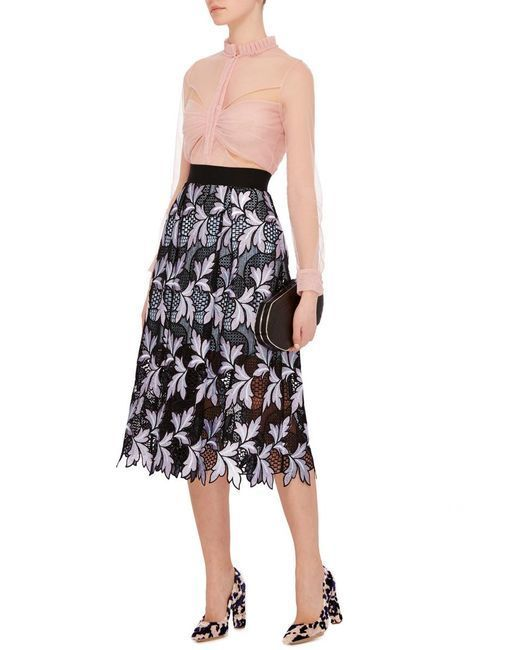 1ac19bb816 Self Portrait Patchwork Guipire Floral Skirt size 8 | The Volte