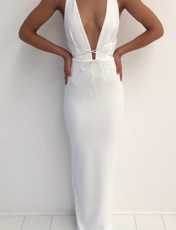 Natalie Rolt White Mila Gown