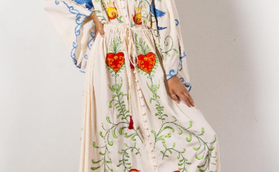 884da498d28 Fillyboo Strange Magic embroidered maternity dress - Light Blush ...