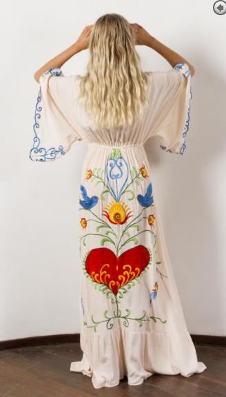 5f0cfaa3d27a8 ... Fillyboo Strange Magic embroidered maternity dress - Light Blush ...