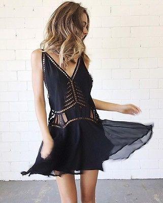 02e9c8ff04b Magali Pascal Ivy dress black size 10