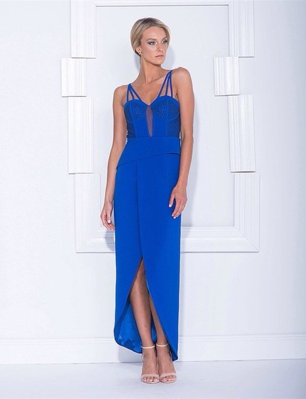 Bariano Blue Formal Gown