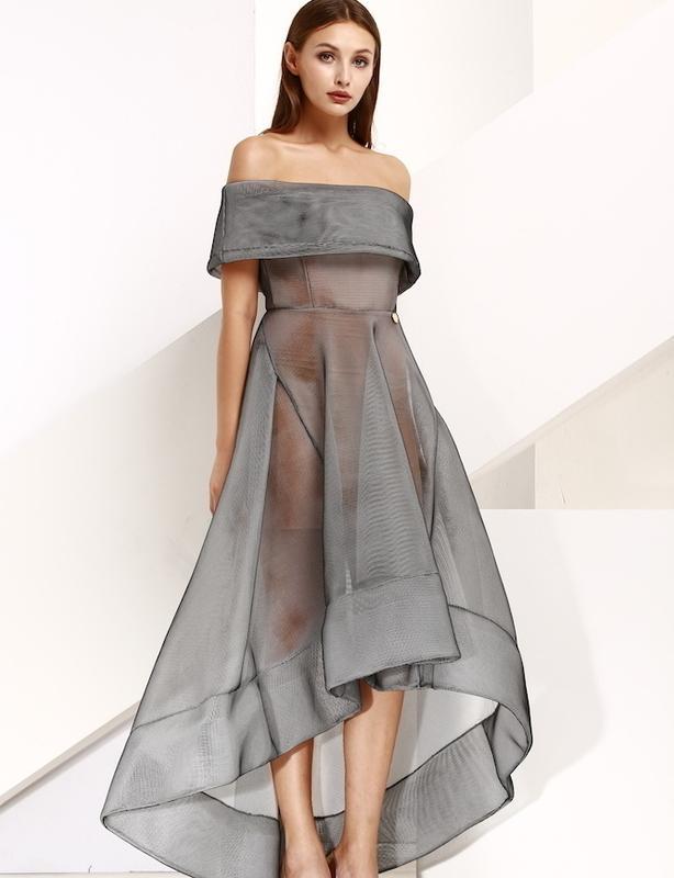 Bronx & Banco Grey Tulip Dress Size 8