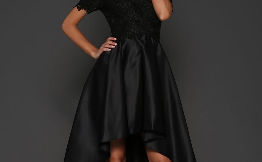 5336324268c Elle Zeitoune Rosie Strapless Black Lace Dress Size 10 ...