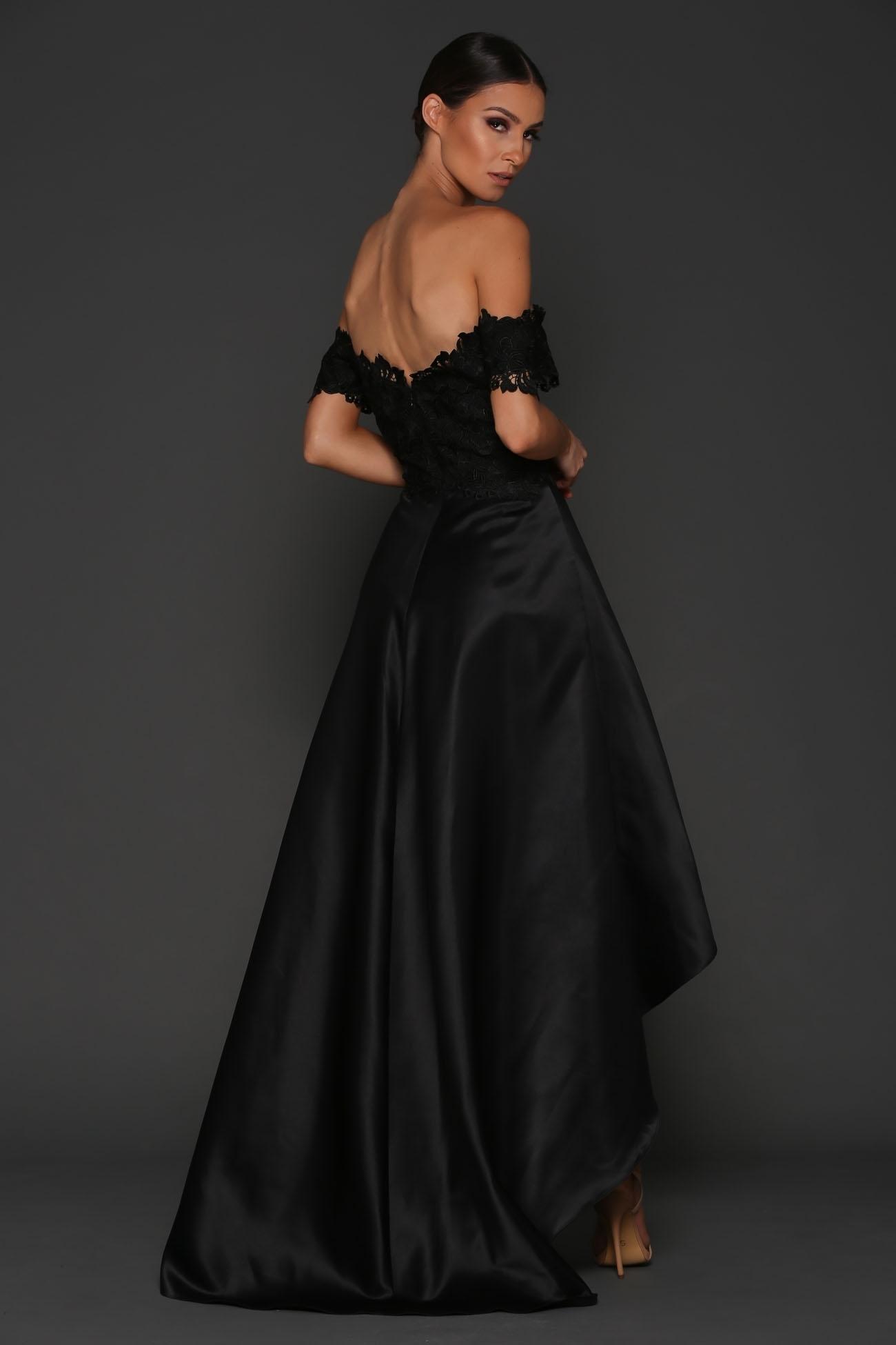 054c484b838 Elle Zeitoune Rosie Strapless Black Lace Dress Size 10