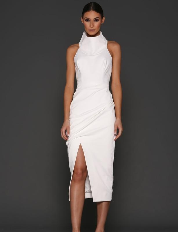 Elle Zeitoune Karoline White Dress Size 8