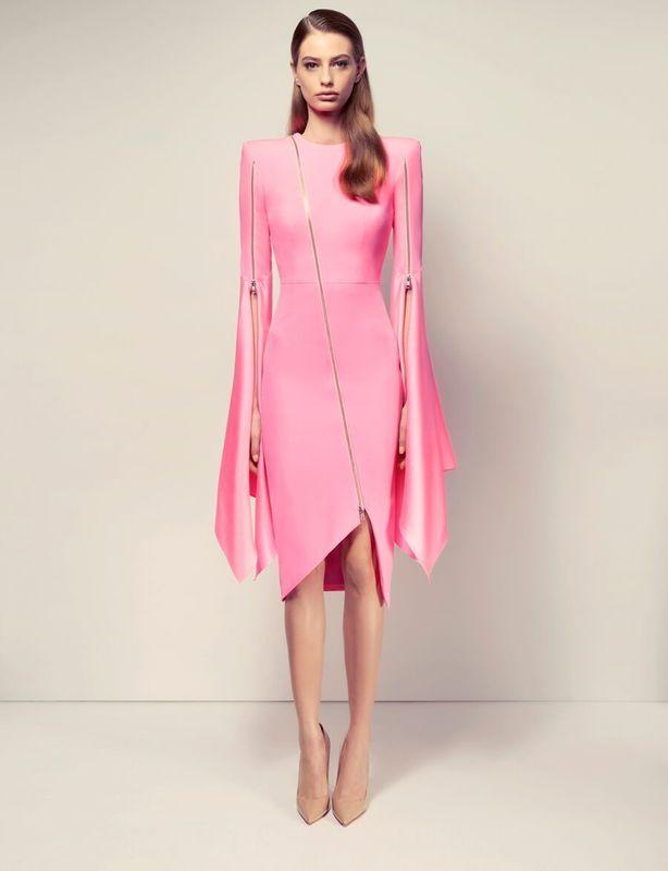 Alex Perry Pink Darcy Zip Dress size 8