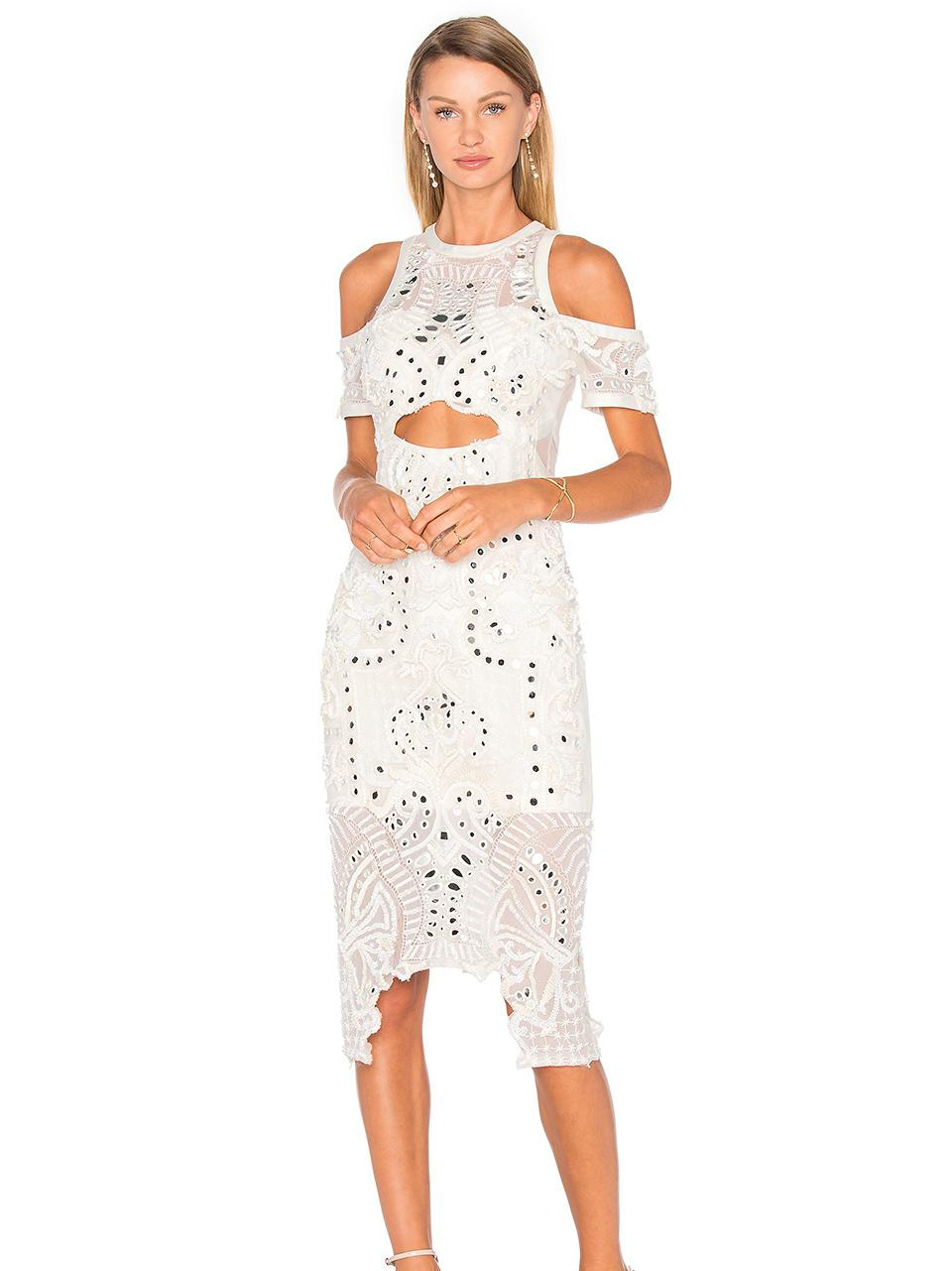11bd37df51d5 Thurley White Wild Hearts Lace Midi Dress size 10 ...