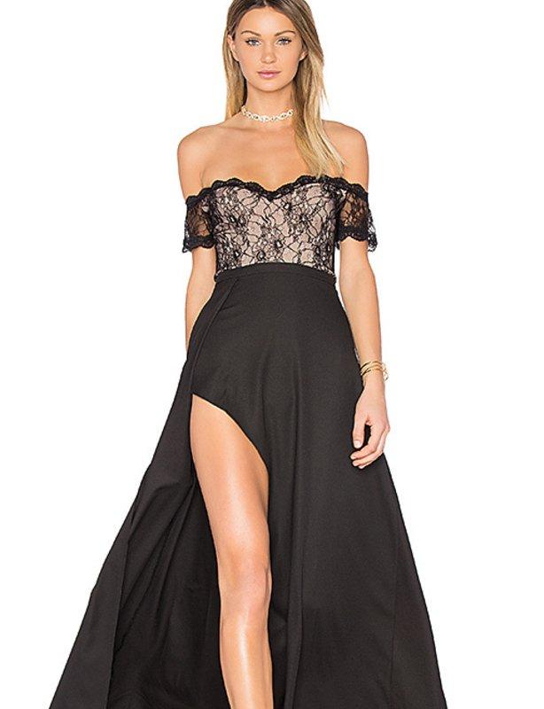 Lucette lace detail dress by elle zeitoune usa