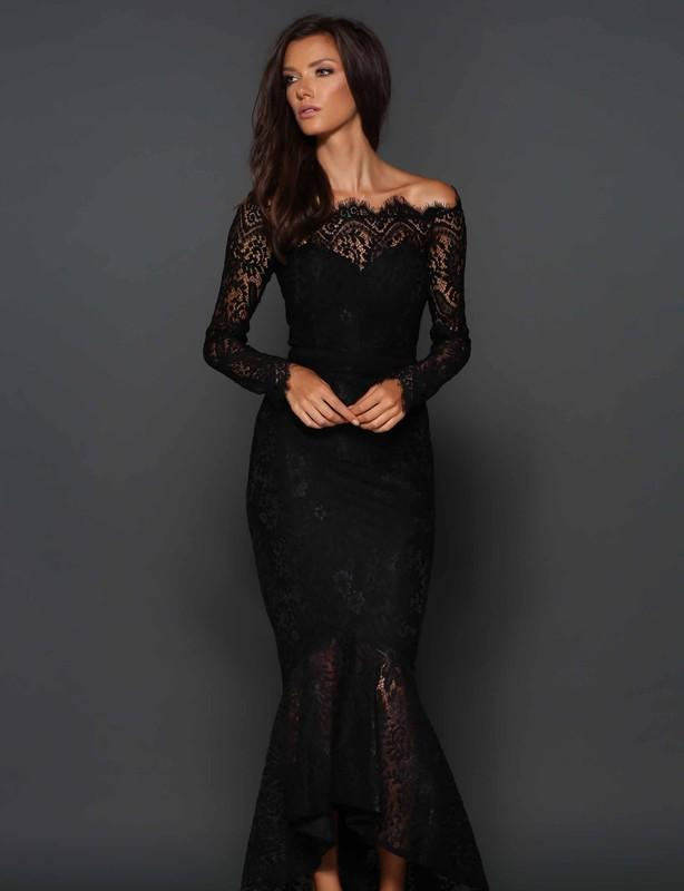 Elle Zeitoune Black Marchesa Dress size 6