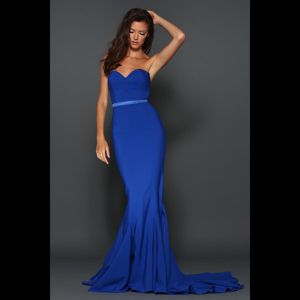 Elle Zeitoune Cobalt Blue Arianna Gown size 10 | The Volte