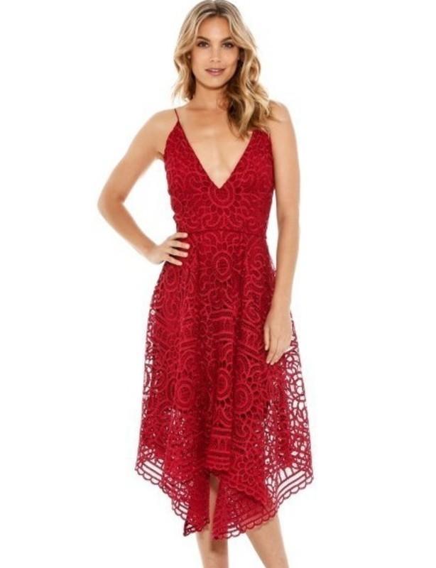 Nicholas Floral Berry Lace Ball Dress size 8