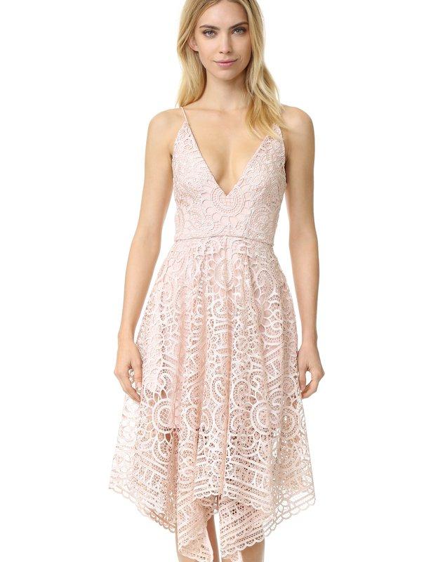 Nicholas Antique Pink Floral Lace Ball Dress size 12