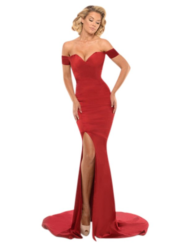 Portia & Scarlett Red Karen Gown XS
