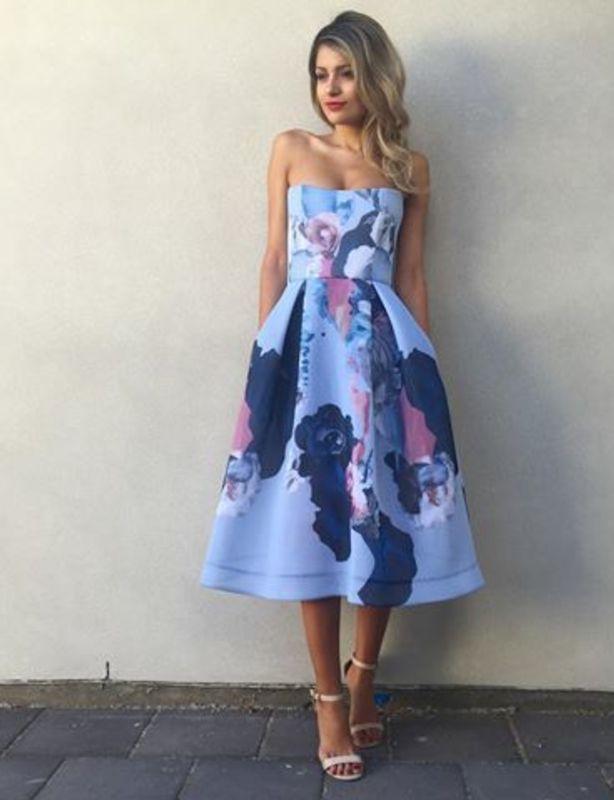 Nicholas Blue Floral Mesh Ball Dress size 10