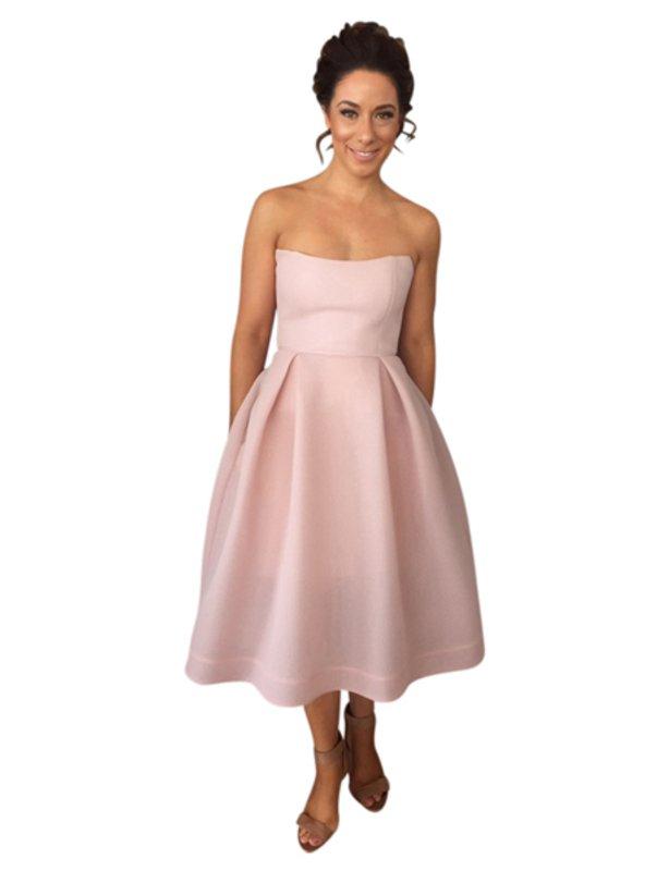 Nicholas Blush Mesh Ball Dress size 10