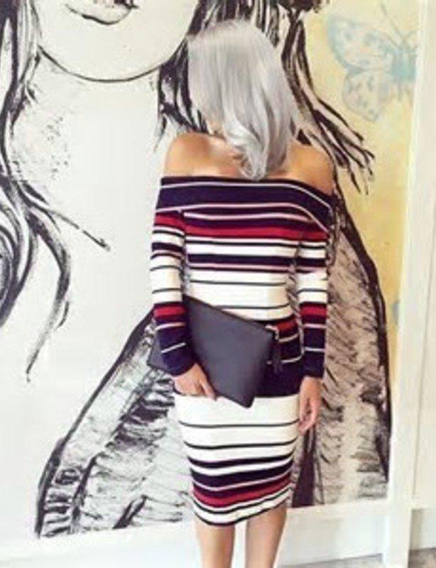 Kookai Striped Ponti Dress