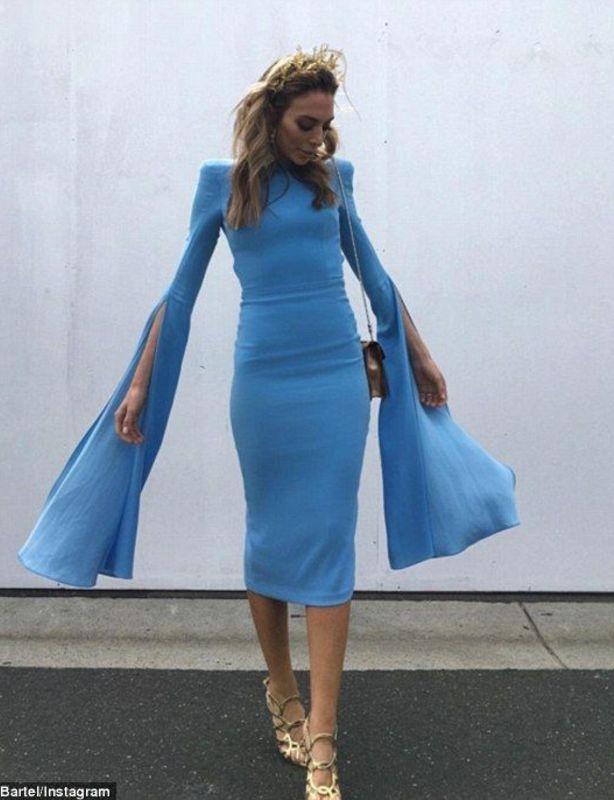 Alex Perry Blue Chloe Dress size 8