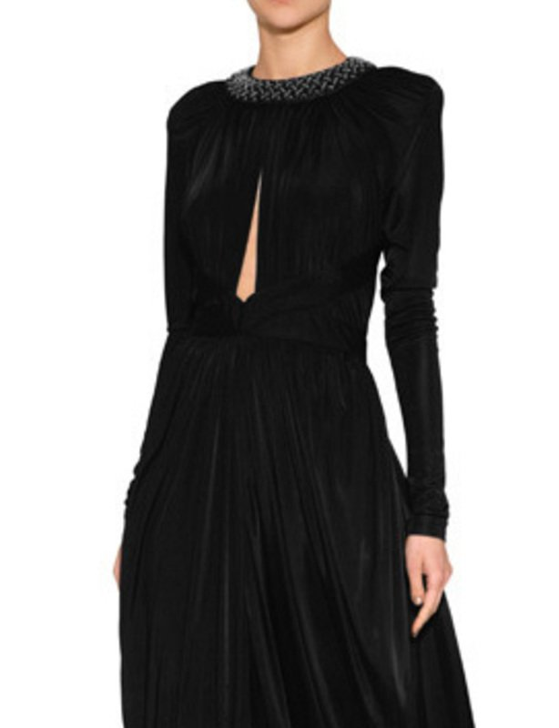 Black Crystal Embellished Gown - Balmain