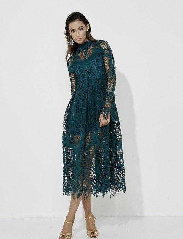 MOSSMAN Ties that Bind Dress Emerald size 10
