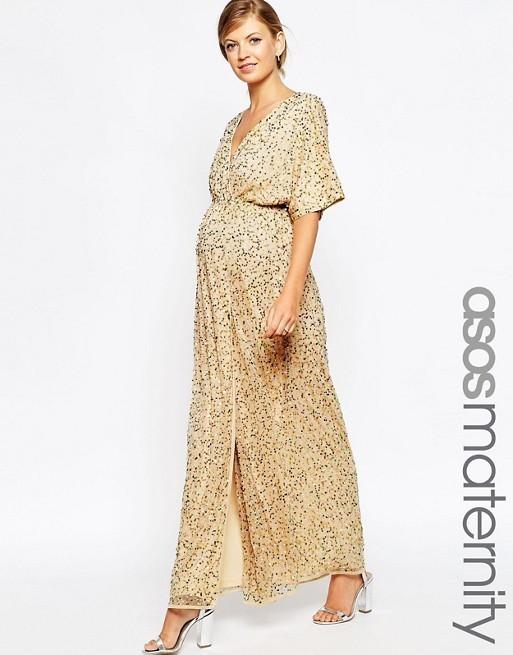 f3c4ff94701 Asos Kimono Maxi in Sequin size 8