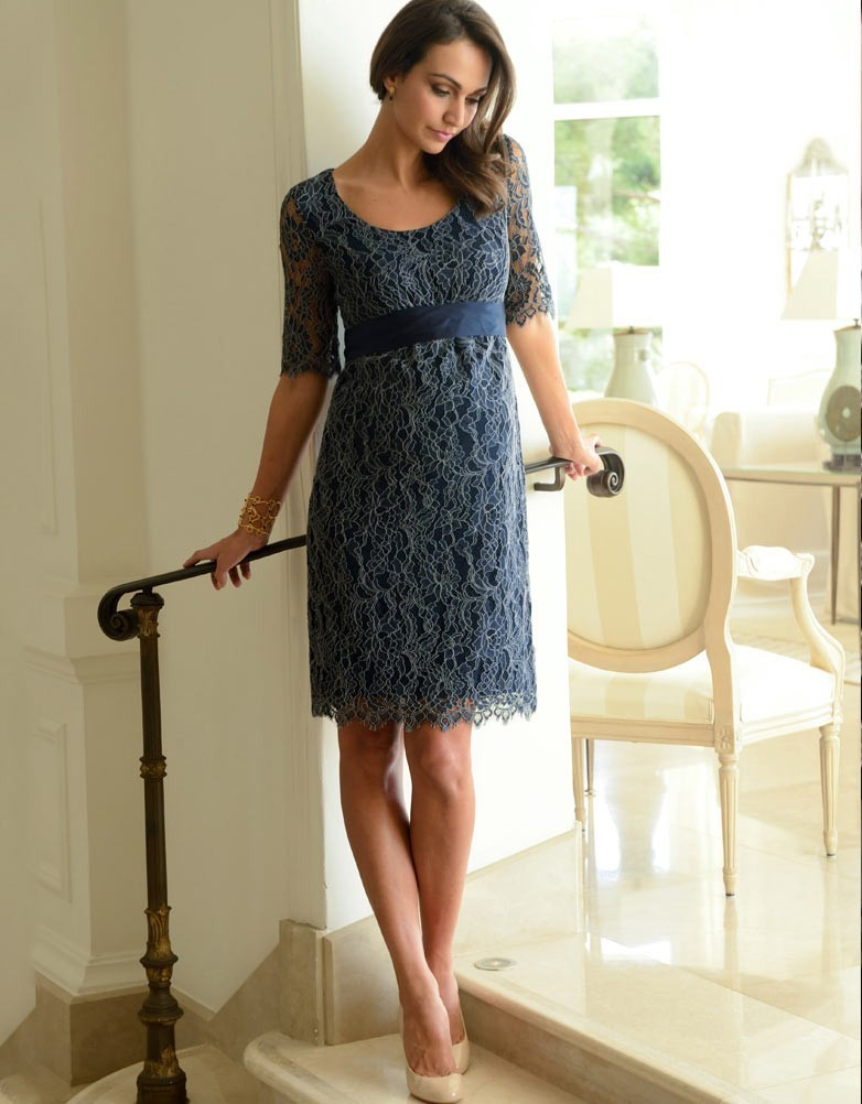 8c427a8470795 Seraphine Navy Lace Maternity Dress size 14 | The Volte