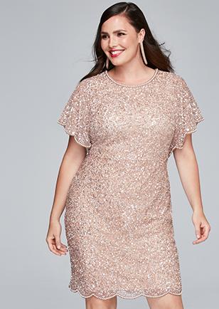 d653cbe2dc Adrianna papell plus size beaded flutter sleeve dress size png 308x434 Adrianna  papell flutter dress