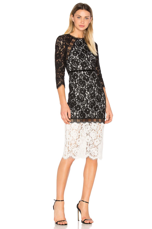 4f6012d6202df Alexis Black White Whitney Lace Dress size 12 | The Volte