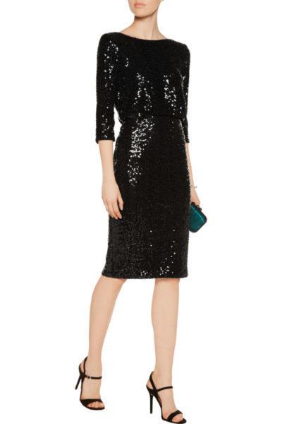 Badgley Mischka Black Sequin Dress Size 6 The Volte