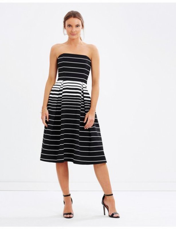 Nicholas Corsica Stripe Ball Dress
