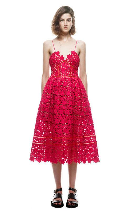4b2e91919ebf9 Self Portrait Red Lace Azalea Dress size 8