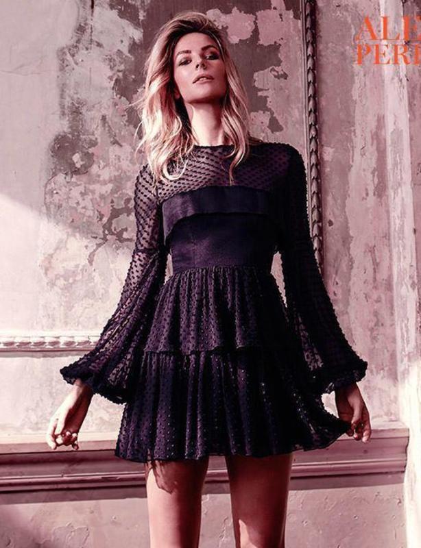 Alex Perry Black Valerie Mini Dress size 8
