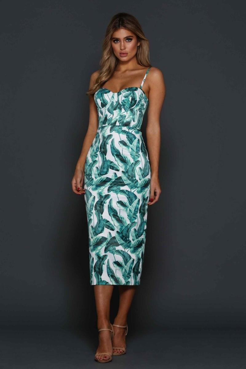 Elle Zeitoune Alannah Tropical Palm Dress size 14 | The Volte
