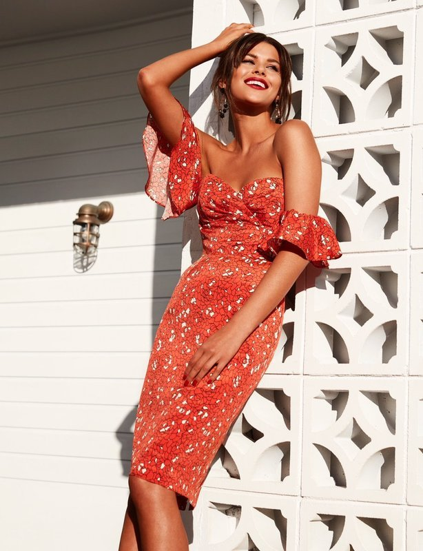 Kookai Allegra Dress Orange - Size 12
