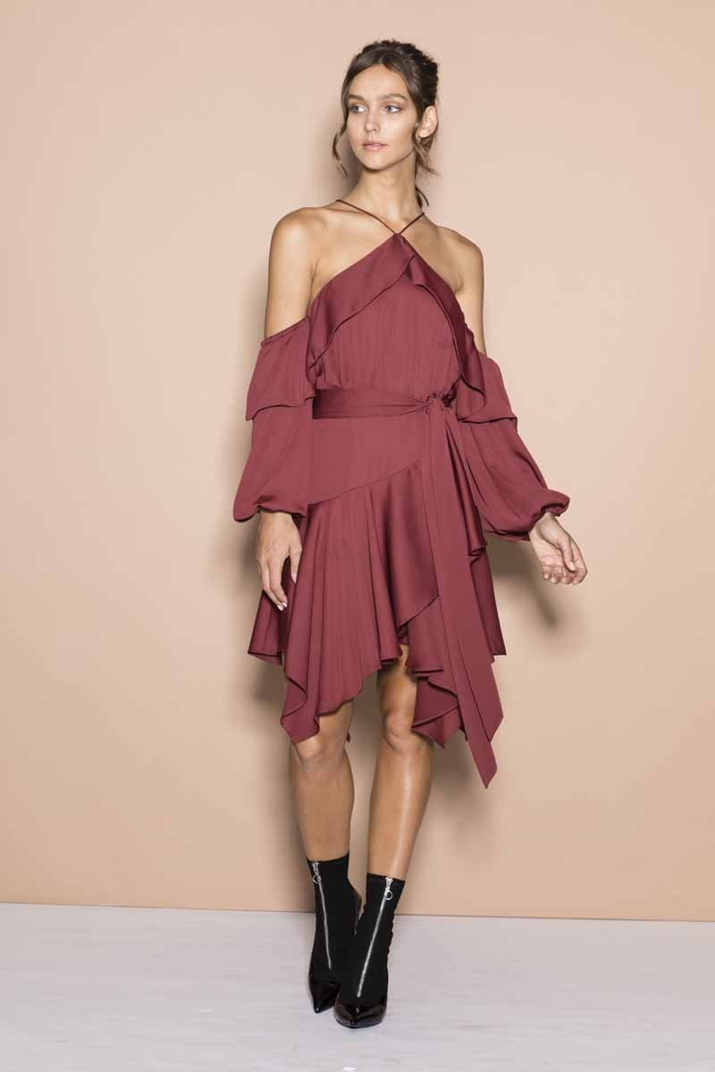 Sheike Burgundy Diva Dress Size 14 The Volte
