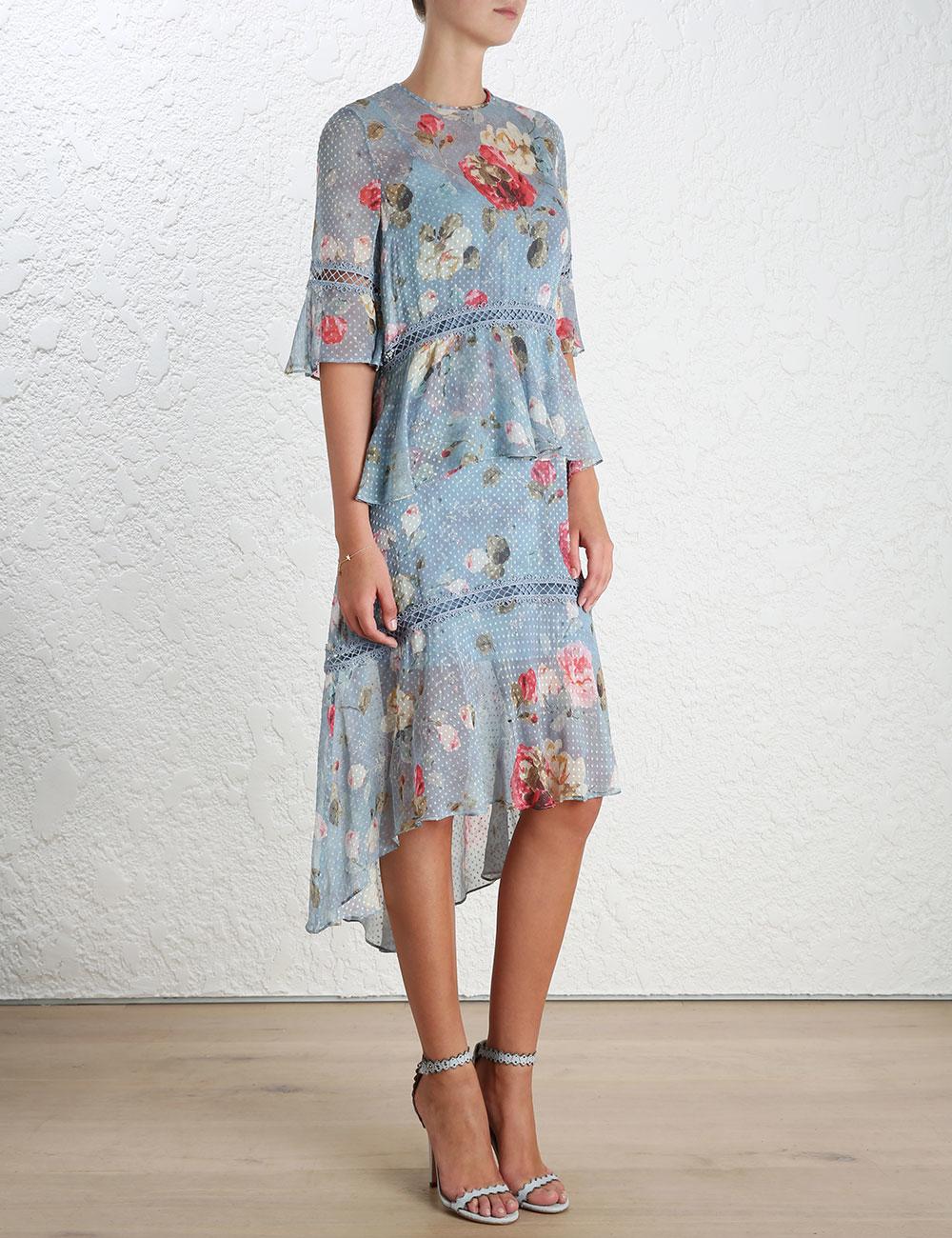 newest buy sale outlet sale Zimmermann - Havoc Floating Dress Blue Floral size 14 | The ...