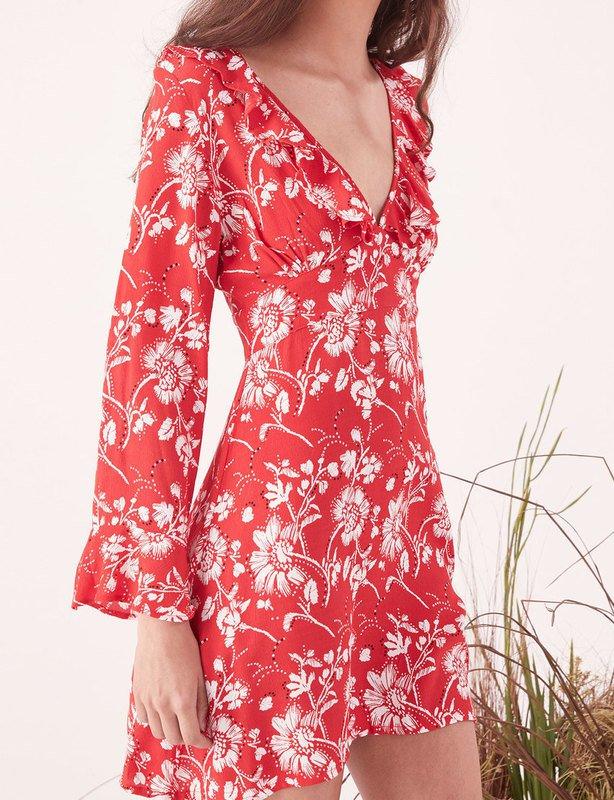 Wildflower Mini LS Dress